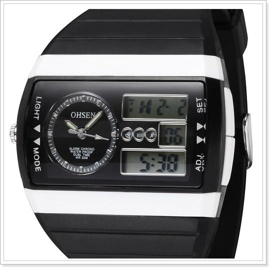 Кварцевые спортивные часы с будильником