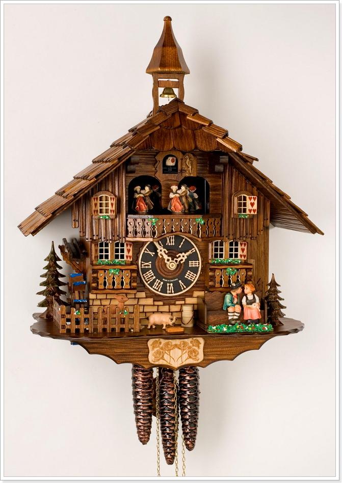 Японские настенные часы с движущимися механизмами