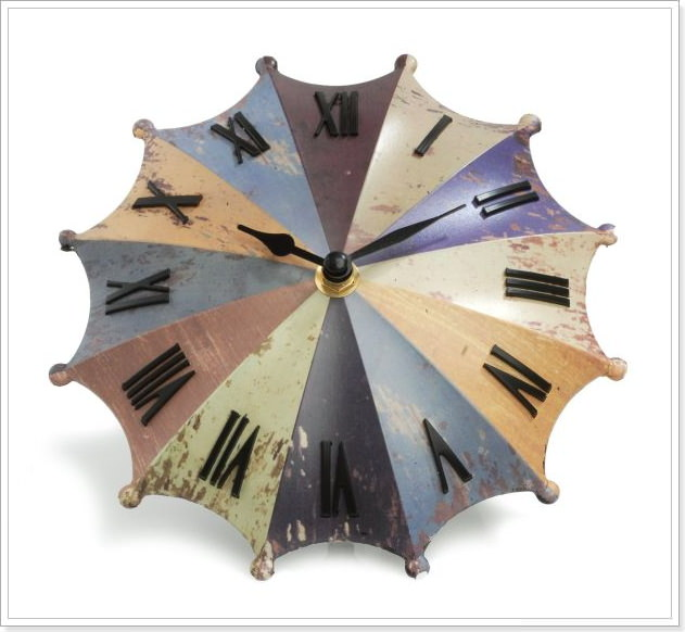 Umbrella-Desk-Clock-Rainbow