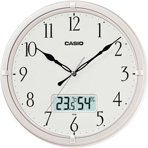 Настенные часы Casio в белой рамке