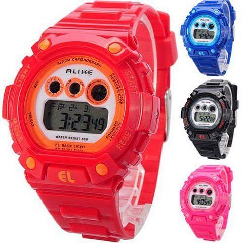 Женские разноцветные электронные часы