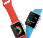 Умные часы iWatch с цветными пластиковыми ремешками