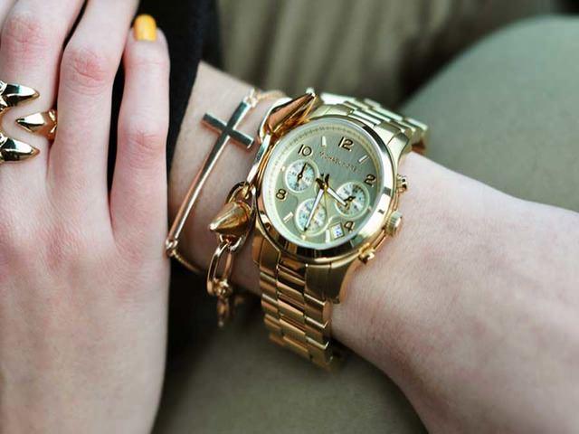 Вид часов на руке