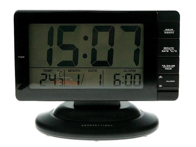 Часы с будильником и термометром