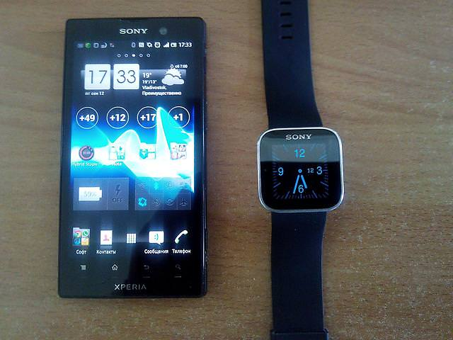 Часы Sony SmartWatch